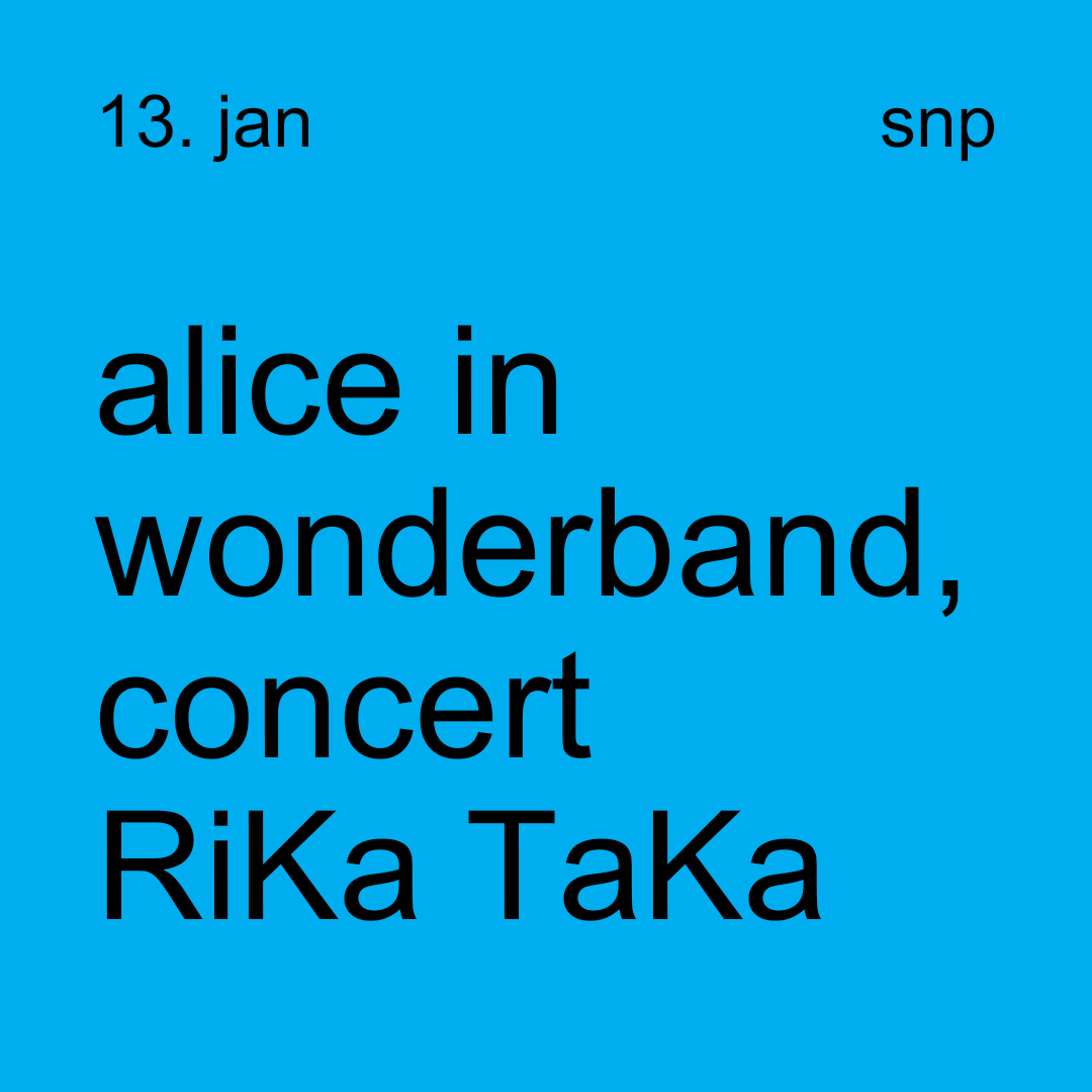 alice in wonderband, concert RiKa TaKa